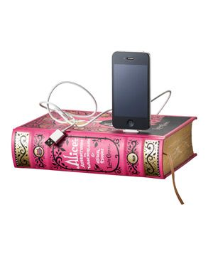 The Alice in Wonderland Book Charger for iPhone and iPod. adorable.