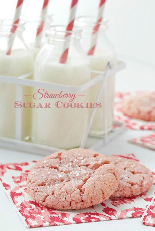 Strawberry Sugar Cookies | The Cafe Sucre Farine for Melanie Makes