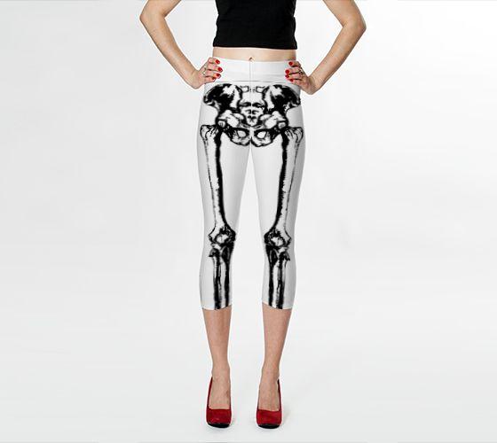 Neg Bones Capri Leggings - Available Here: http://artofwhere.com/shop/product/54634