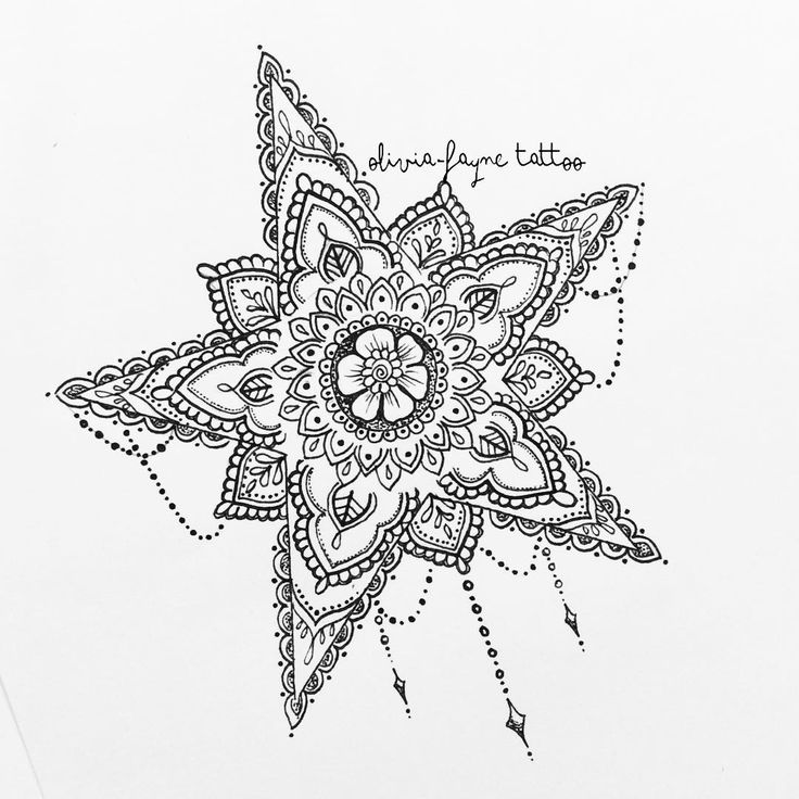 Star for Kirsty Thorpe (all designs are subject to copyright therefore illegal to use without permission or purchase. To order your own custom design please visit my website or email: both in bio)  #star #star tattoo #mandala