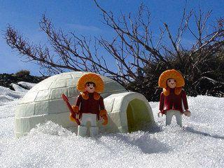 playmobil iglo met poppetjes&accessoires