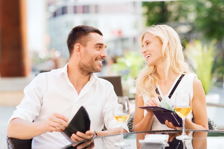 "The great ""Who Pays for the Date"" debate! Which side are you on?   Here's why Lyn Paul, The Dating Angel says you should never pay for dates when out with a man."