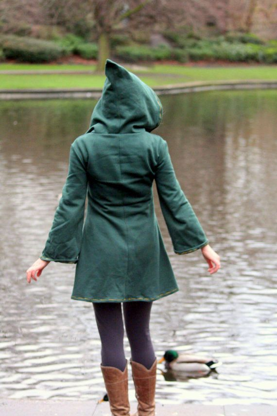Elven tunic for women- Medieval tunic - Pixie hoodie -Psy ...