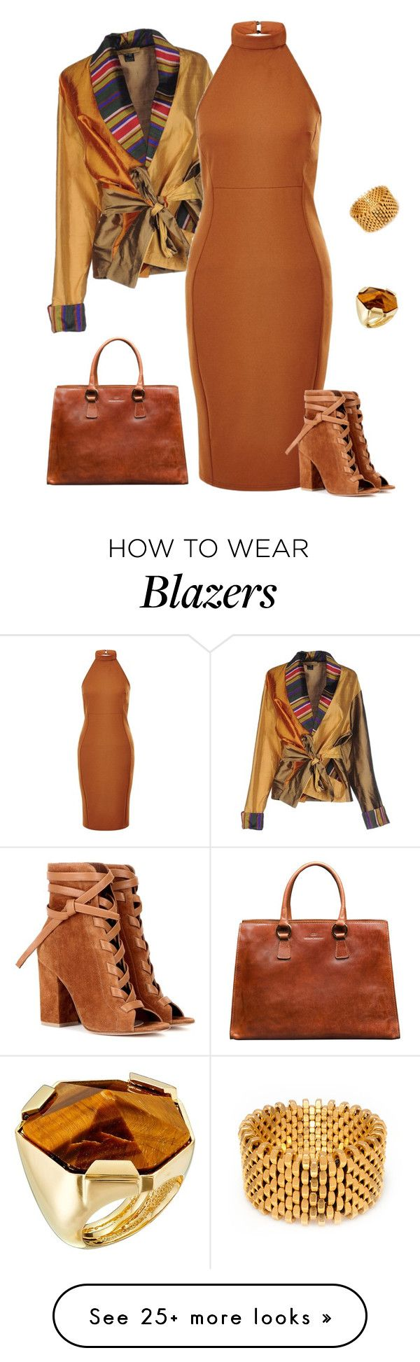 """outfit 3531"" by natalyag on Polyvore featuring Gianvito Rossi, Alice Menter and Vince Camuto"