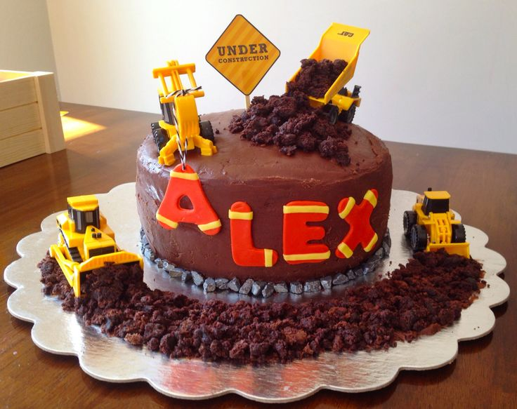 Road Construction Birthday Cake