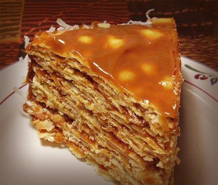 Torta de mil hojas or thousand leaves.. super sweet dulce de leche cake from Chile... it takes time to make, but seconds to eat it.. lol