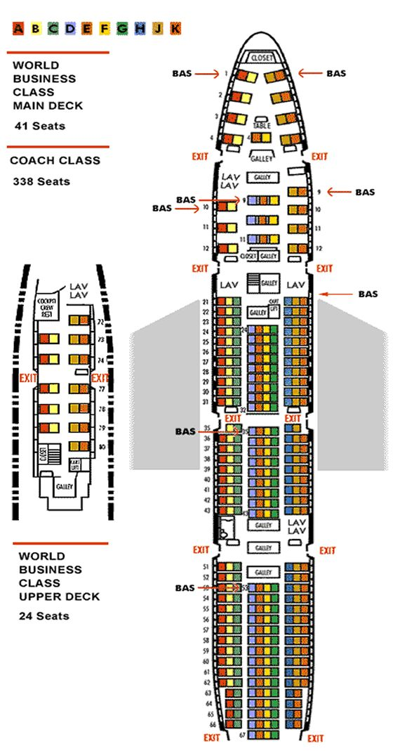 BOEING 747-400 NORTHWEST AIRLINES SEATING CHART | Icarus ...