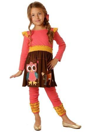 Sam & Sydney Owl Twirl Dress