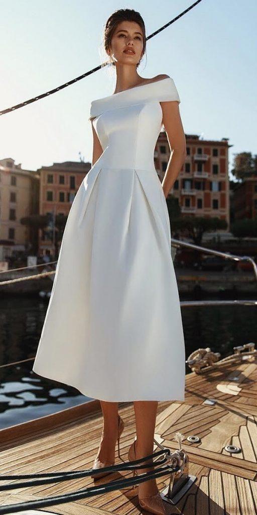 21 Incredible Tea Length Wedding Dresses | Tea length wedding dress, Popular wedding dresses, Trendy dresses