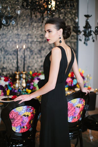 Elegant Glamour Valentino collection Photoshoot decorated by Flowers Time for the wedding magazine #luxury#black#bright#red#yellow#green#photoshoot#toronto#model#fashion#vogue#style
