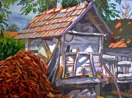 Paintings by Krisztián Szántói, via Behance