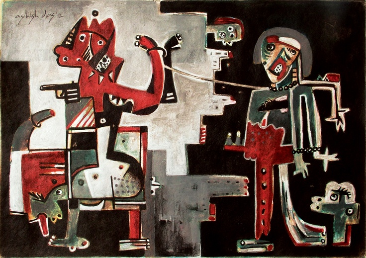 condition of humanity, 48cmX35cm, acrylic on handmade paper, (c) all rights reserved