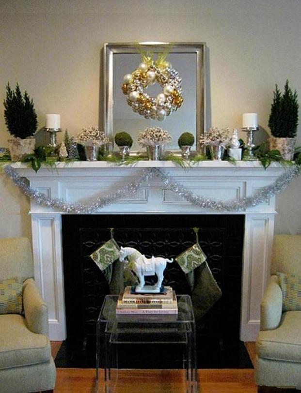 Attraktiv Weihnachtsverkleidung Dekor, Weihnachten Kamine, Kaminkaminsimse,  Weihnachtsstimmung, Glitter Christmas, Verzieren Bäume, Kamin, Stores,  Weihnachten