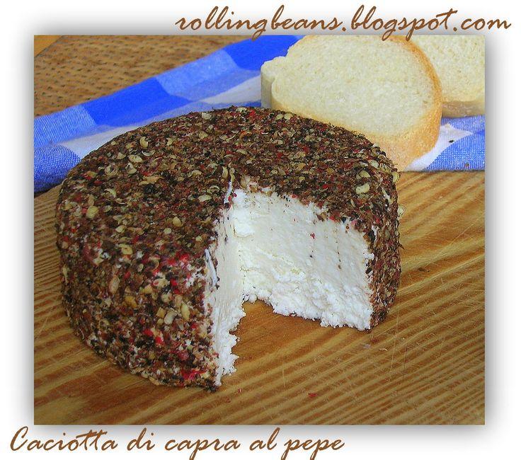Come fare una caciotta di capra al pepe #Formaggio #autoproduzione #faidate Come fare il formaggio in casa
