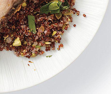 Red Quinoa with Pistachios