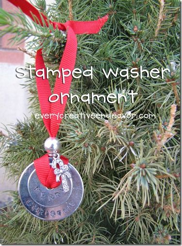 Stamped washer ornament
