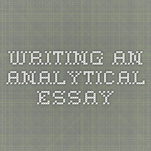 Writting an essay