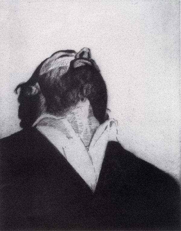 Figure Study I - Stephen Conroy, etching