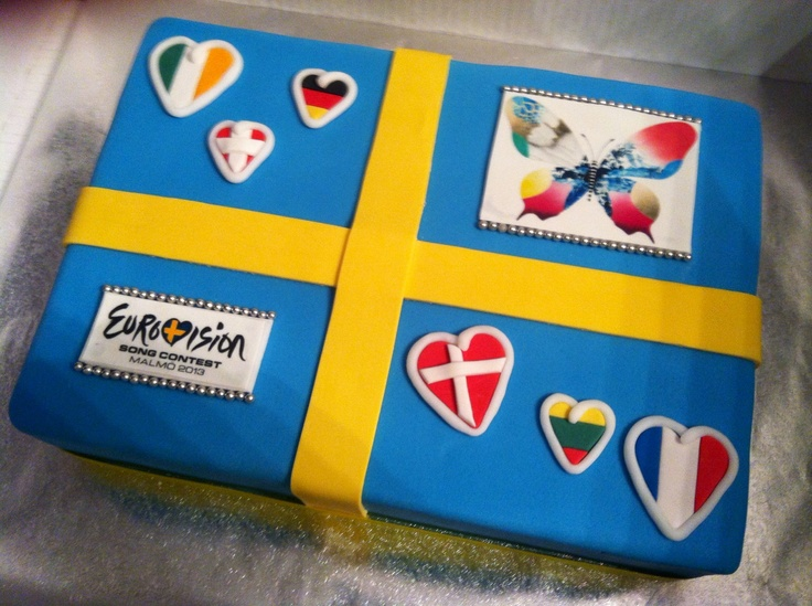 Eurovision cake! Just need the right flag!