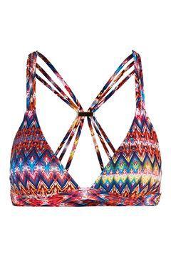 Bright Aztec Triangle Bikini Top Topshop