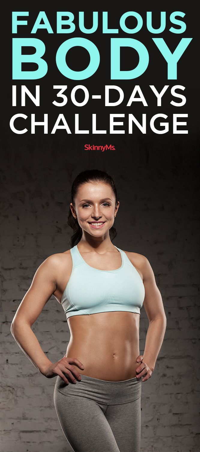 New Month = New Challenge! Get a Fabulous Body in 30 Days! #workout #challenge
