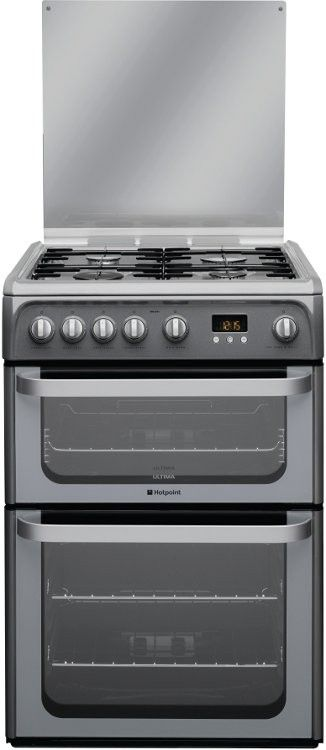 Hotpoint Ultima HUG61G Gas Cooker with Double This stylish graphite Hotpoint Ultima HUG61G is a gas fueled cooker with a double oven. The top one also functions as a grill and both have interior lights, glass doors and self cleaning catalytic lin http://www.MightGet.com/february-2017-2/hotpoint-ultima-hug61g-gas-cooker-with-double.asp