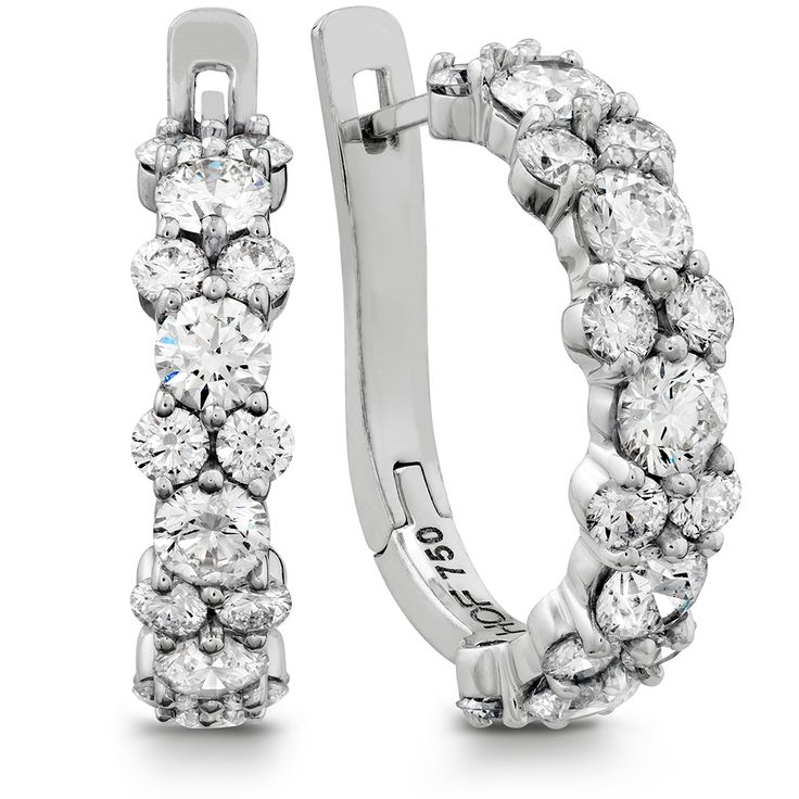 Hearts On Fire Gracious Diamond Hoop Earrings
