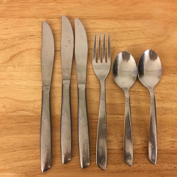 Superior Stainless Flatware Atomic Night Sky Aurora USA Mixed Lot of 6 Pieces #Superior