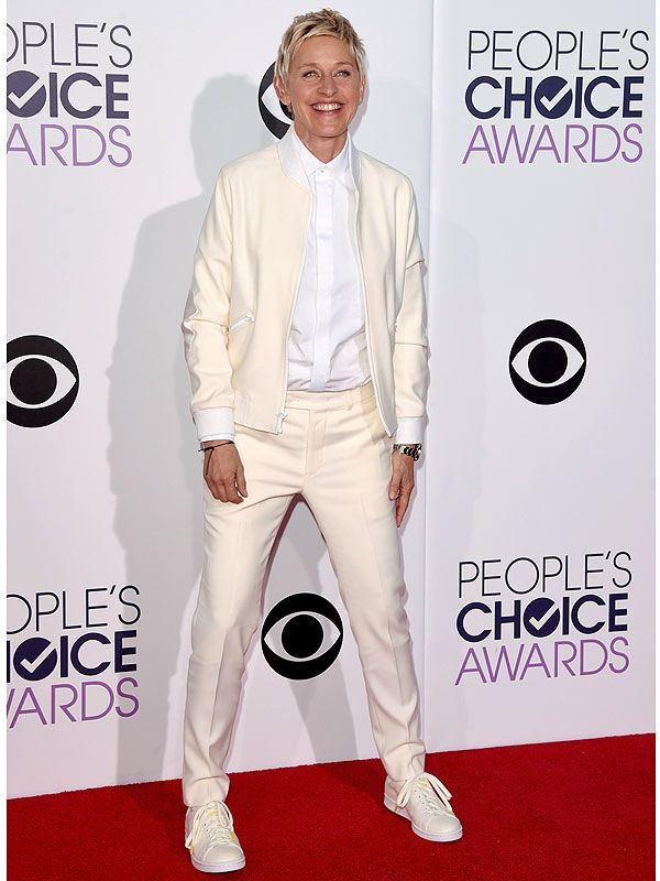 Ellen DeGeneres Debuts Her New Clothing Line at the People's Choice Awards http://stylenews.peoplestylewatch.com/2015/01/07/ellen-degeneres-debuts-her-new-clothing-line-at-peoples-choice-awards/