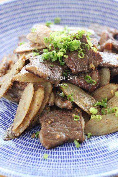 牛肉とごぼうのガーリック炒め by uzukajiさん | レシピブログ - 料理 ...