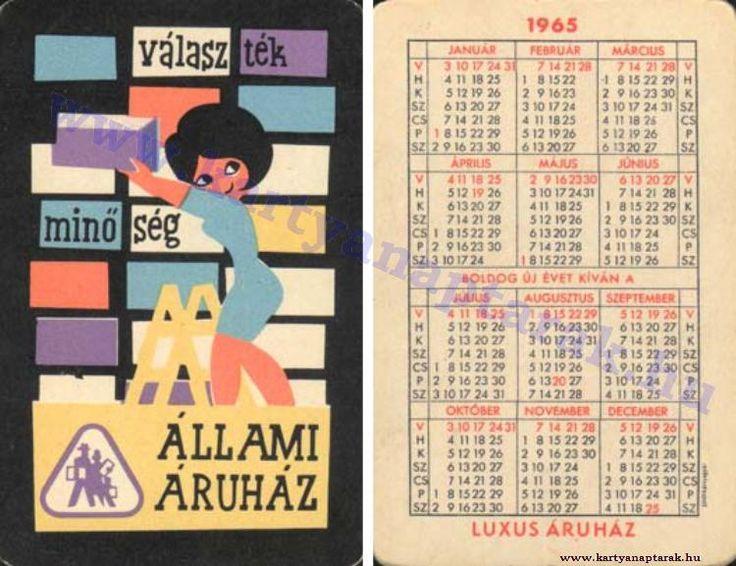 1965 - 1965_0184 - Régi magyar kártyanaptárak