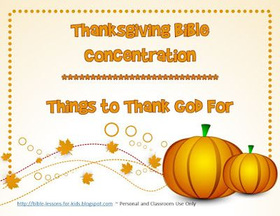 Bible lessons for kids free thanksgiving bible for Thanksgiving crafts for kids church