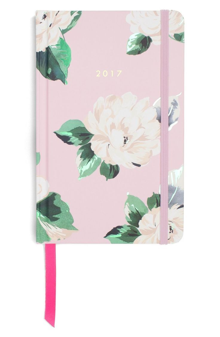 Keep track of important dates and daily tasks with this 17-month planner that features a charming printed cover and elastic band closure.