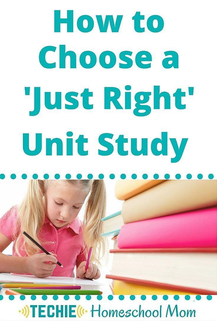 Homeschool Unit Studies - The Curriculum Choice