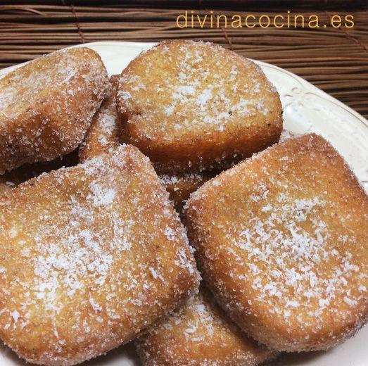 Torrijas de leche de coco » Divina Cocina