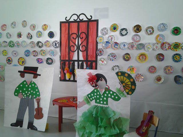 decoración preciosa y típica para el día de Andalucía