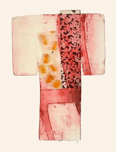 Untitled, 2006 Etching, aquatint, chine colle by Judy Orstav