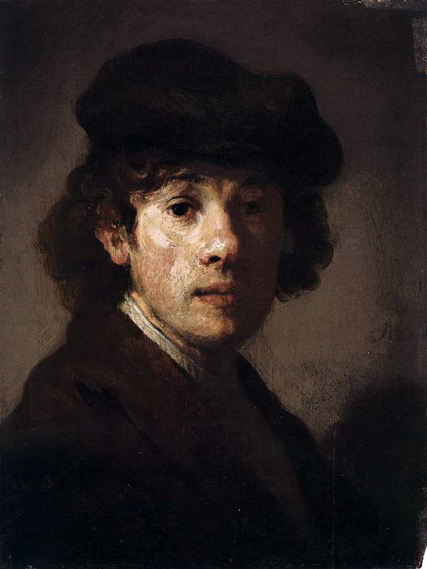 Rembrandt -Rembrandt as a Young Man (1630-35)Oil on wood, 22 x 17cm.Metropolitan Museum of Art, New York