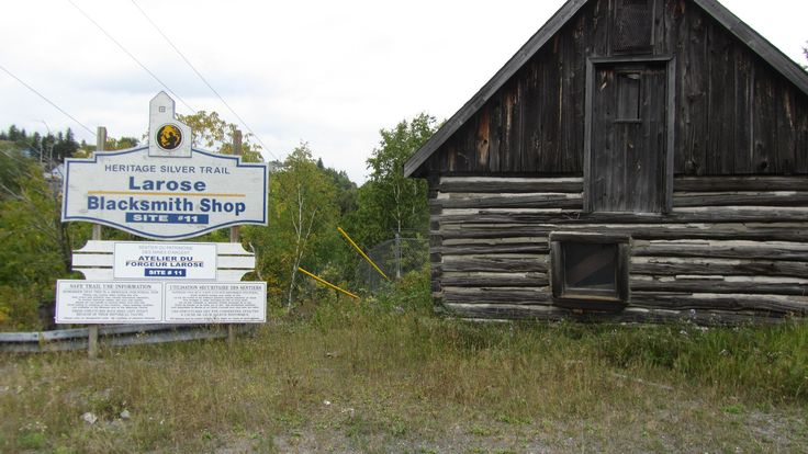 Fred LaRose's blacksmith shop. Fred was one of the first people to stake a claim on a silver mine in the Cobalt area, before the town was founded.
