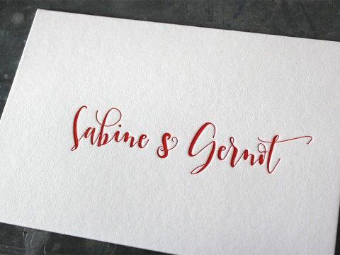 Hochzeit Einladung Hochzeitseinladung Baumwollpapier Letterpress Buchdruck Wien haptisch Haptik außergewöhnlich