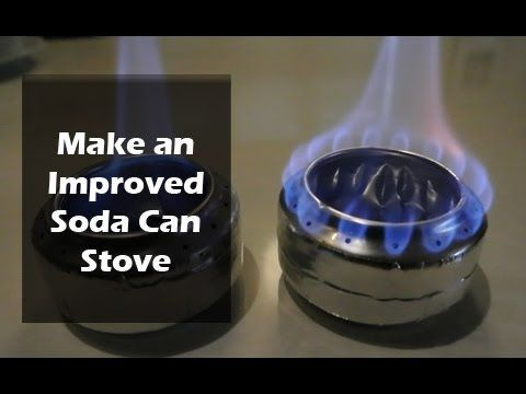 How to Make a Soda Can Stove - Old vs Improved Design - YouTube