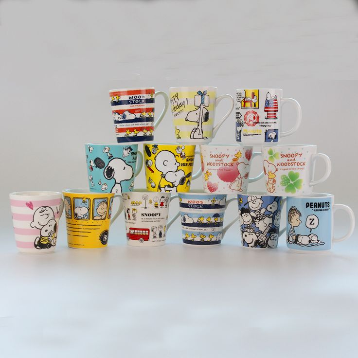 Super Quality Cute Peanuts Woodstock Charlie Brown Cute Dog Olaf Cartoon Ceremic Coffee Mug Cup Gift