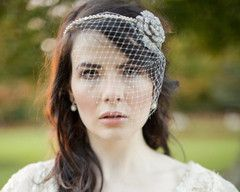 Opt for bejewelled glamour with this floral crystal encrusted hairband and birdcage veil by Jules. With it's striking brilliant-cut Swarovski crystals and dainty French net ivory birdcage veil this hair accessory will add sumptuous detailing to beautifully styled hair. €175/£145/$240