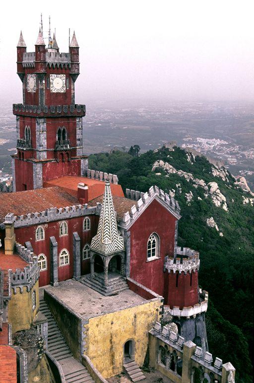 Palacio da Pena - Sintra, Portugal. UNESCO World Heritage Site. #palaces (Photography by Miguel Valle de Figueiredo)