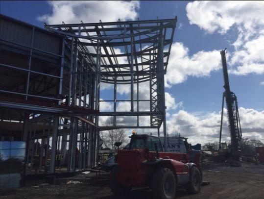 Precast concrete hollow core planks provided to local retailer.