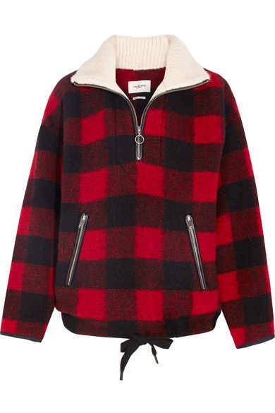 Étoile Isabel Marant - Gilas Plaid Brushed Wool-blend Jacket - Red