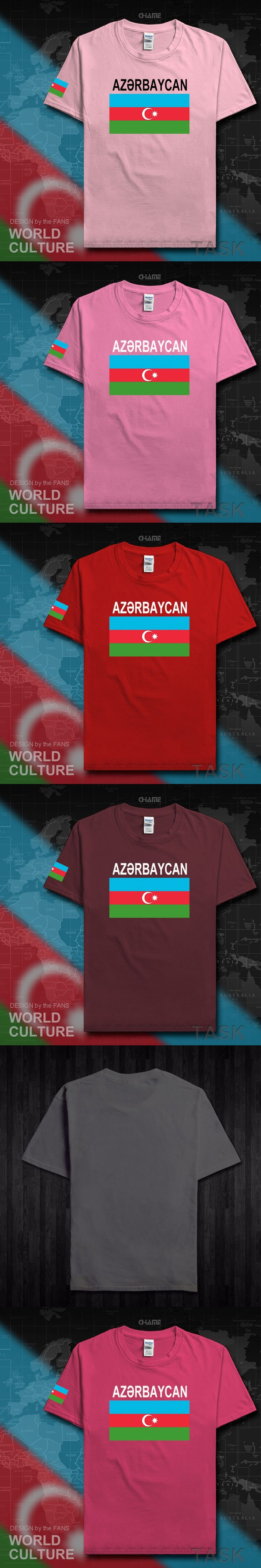 Azerbaijan Azerbaijani men t shirts 2017 jerseys nation team tshirt 100% cotton t-shirt clothing tees country sporting flags AZE