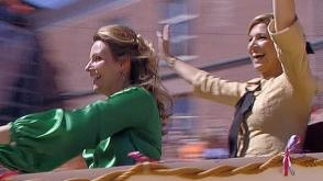 Princess Máxima and Princess Annette at soap box derby @Queensday at Veenendaal @www.nos.nl