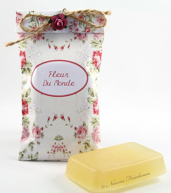 Soap. Interesting packaging idea.
