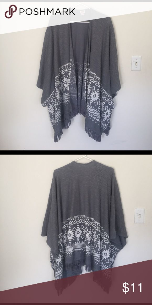 Aztec Print Cardigan Long draped cardigan with white Aztec pattern. Looks great over dresses and shorts for spring! Mossimo Supply Co Sweaters Cardigans